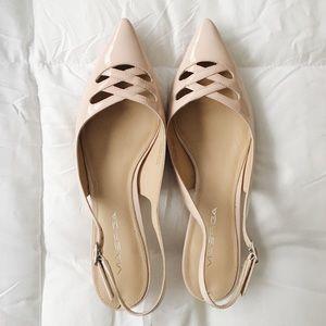 Via Spiga Dolmen Pale Pink Patent Leather Designer